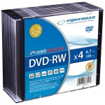 DVD-RW ESPERANZA 4,7GB X4 - SLIM CASE 10 SZT.