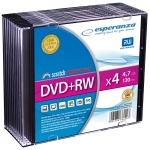 DVD+RW ESPERANZA 4,7GB X4 - SLIM CASE 10 SZT.