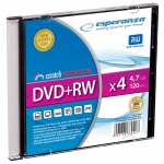 DVD+RW ESPERANZA 4,7GB X4 - SLIM CASE 1 SZT.