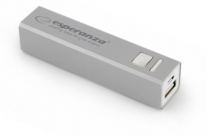 ESPERANZA POWER BANK ERG 2400mAh SREBRNY