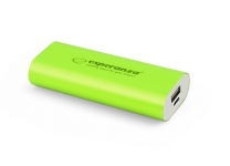 ESPERANZA POWER BANK HADRON 4400mAh ZIELONY