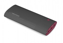 ESPERANZA POWER BANK 13800MAH URANIUM CZARNO/BORDOWY