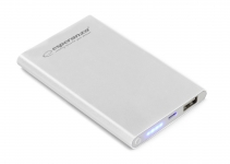 ESPERANZA POWER BANK 4400MAH NUCLEUS SUPER SLIM SREBRNY